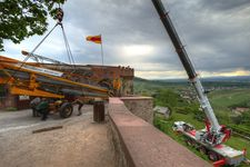 Roof renovation of Staufenberg Castle in Durbach