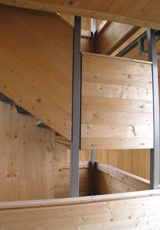 Buchkopfturm: joinery of the cross laminated timber elements