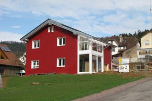 New construction of a timber frame house