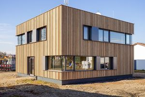New commercial building with NUR-HOLZ elements in the district of Emmendingen