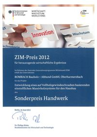 ZIM Prize 2012  Special price craft